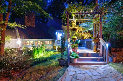 Outdoor lighting san jose silicon valley lawn lighting exterior outdoor lighting landscape security lighting in san jose and silicon valley aloadofball Images